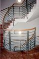 Edelstahl-Holz Treppengeländer