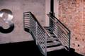 Stahltreppe mit Betonwerkstein